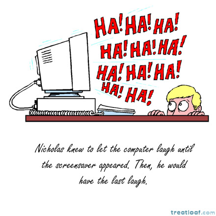 laughing computer